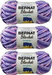 Bulk Buy: Bernat Blanket Yarn (3-Pack) Super Bulky #6 5.3 Ounce 108 Yards Per Skein (Pansy Purple)
