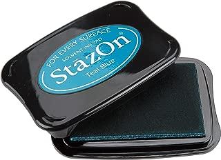 Tsukineko Full-Size StazOn Multi-Surface Inkpad, Teal Blue