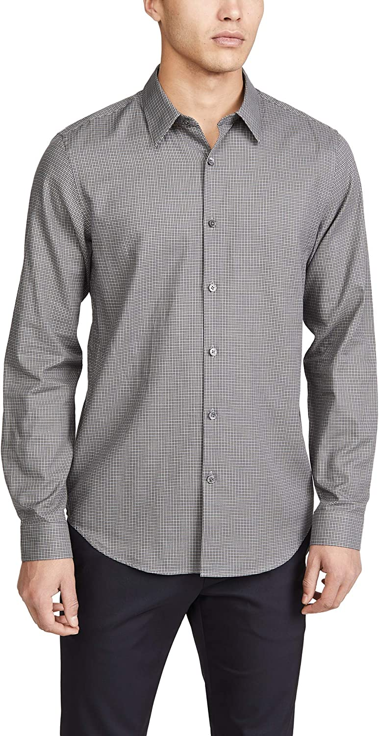 Theory Men's Long Sleeve Irving Flannel Shirt