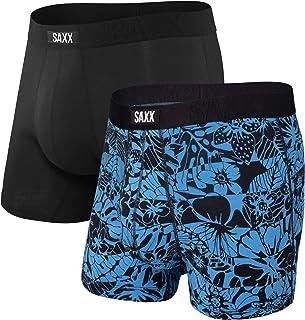 Saxx Underwear Men's Boxer Briefs – Undercover Men's Underwear – Boxer Briefs with Built-in Ballpark Pouch Support – Pack ...