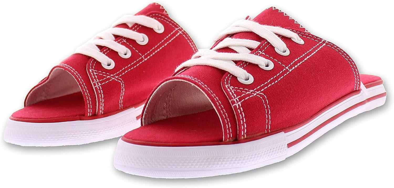 385 Fifth Ace Lace Up Sandals for Women,Athletic Slide Sandals,Canvas shoes,Sports Slides