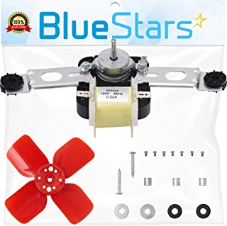Ultra Durable 482731 Evaporator Fan Motor Kit by Blue Stars- Exact Fit for Whirlpool Kenmore KitchenAid Refrigerator- Replaces 0056721 0056801 1100473