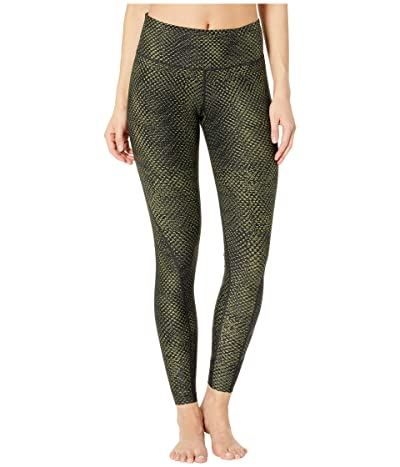 2XU Print Mid-Rise Compression Tights (Reverse Mesh Olive/Black) Women