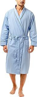 Haigman Men's Easy Care Dressing Gown Bath Robe with Cotton Sleepwear Nightwear