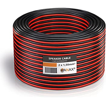MANAX - N°67728 - Câble Noir/Rouge, 2 x 1,50 mm²