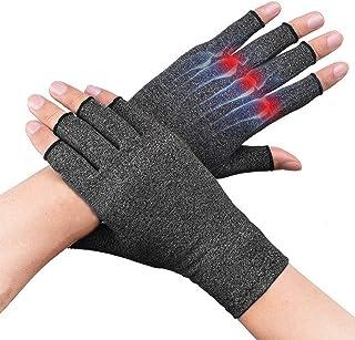 Sponsored Ad - Compression Arthritis Gloves for Women Men for Carpal Tunnel Pain Tendonitis Rheumatoid Fingerless Wrist Br...