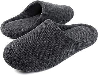 شباشب رجالي من القطن محبوك مريح وقابل للغسل من الأمام حذاء داخلي خفيف الوزن للغاية مع نعل غير قابل للانزلاق من ULTRAIDEAS