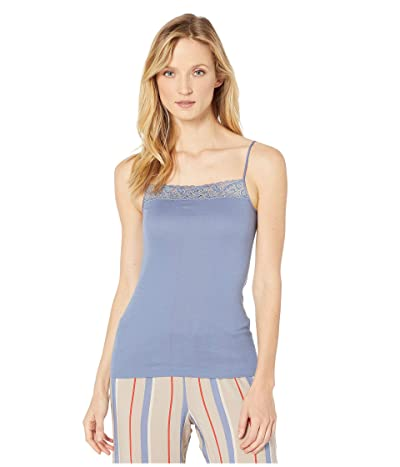 Hanro Moments Spaghetti Camisole (Caribbean Blue) Women