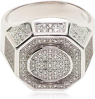 خاتم أنيق من الفضة الإسترلينية 925 للرجال من أتيك