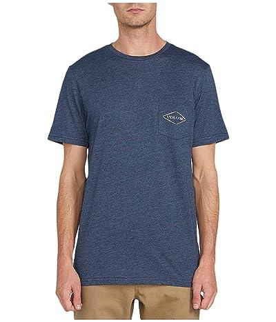 Volcom Import Pocket Short Sleeve Tee (Navy) Men