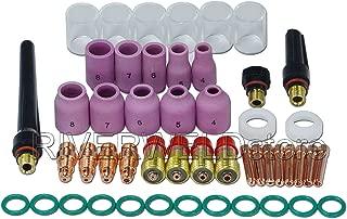 TIG Stubby Gas Lens Pyrex Cup Kit for DB SR WP 17 18 26 TIG Welding Torch 49pcs