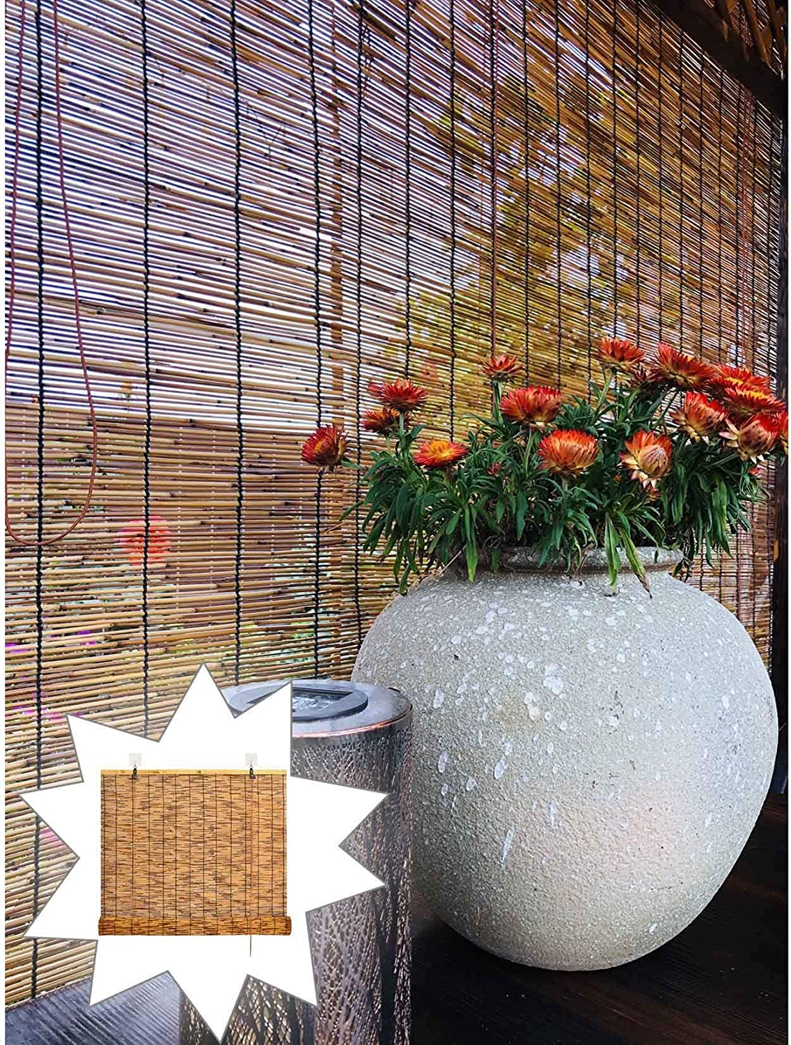Filit Bamboo Roll Wholesale Up Shade-Natural Blinds Sun Reed free Curtain Retro