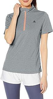 [ルコックスポルティフ] トレーニングハーフジップシャツ ハーフジップ半袖シャツ レディース