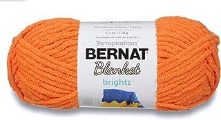 Bernat Blanket Brights Yarn, 5.3 oz, Gauge 6 Super Bulky Chunky, Carrot Orange