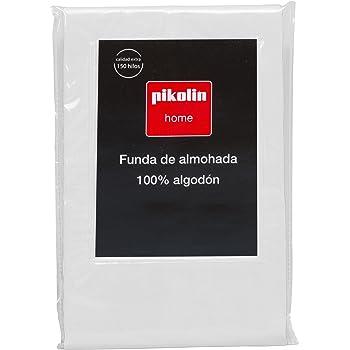 Pikolin Home - Almohadón, funda de almohada, 100% algodón, almohadas de 90 y 105cm, color blanco (Todas las medidas): Amazon.es: Hogar
