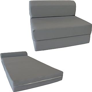D&D Futon Furniture Gray Sleeper Chair Folding Foam Bed 6...