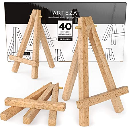 Mini Holz Staffeleien Display/ 9/St/ück Staffeleien /7,6/cm Mini Staffelei /& Leinwand Kollektion Mini nat/ürlichen Holz Display Staffelei Large