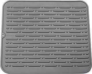 comprar comparacion Alfombrilla Escurreplatos de Silicona 45x40cm GAINWELL Garantía Ilimitada (Gris)