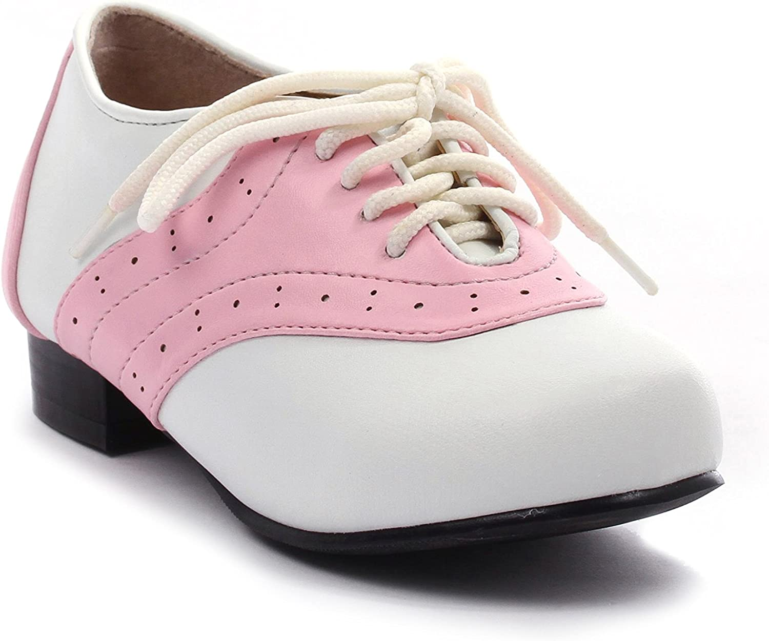 Deluxe Ellie Shoes - Excellence Childrens Pink White Shoe and Saddle