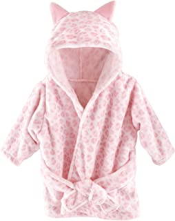 Hudson Baby Unisex Baby Plush Animal Face Robe, Leopard, One Size
