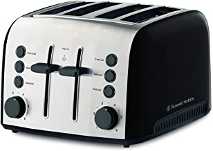 Russell Hobbs RHT94BLK Brooklyn Toaster 4 Slice, Black