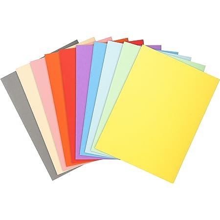 Exacompta 420200E Paquet de 50 chemises Forever 170 carte recyclée format 24x32 cm 170 grammes pour documents A4 coloris bleu clair, bleu vif, bulle, gris jaune, lilas, orange, rose, rouge, vert pré
