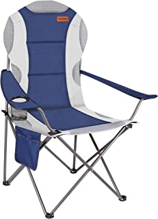 RISEPRO Oversized Camping Folding Chair Heavy Duty Support 350 LBS Heavy Duty Steel Frame Arm Chair with Cup Holder Fully ...
