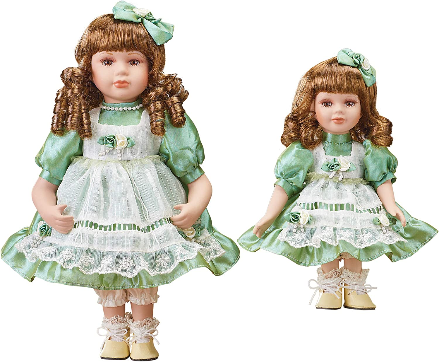 Big and safety Little Sister Porcelain Dolls Bows Set Ranking TOP7 with - Curls