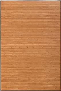 Alfombra de salón o Comedor Oriental marrón de bambú de