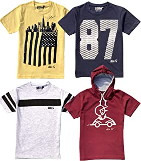 ABITO t Shirts for Boys Pack of 4