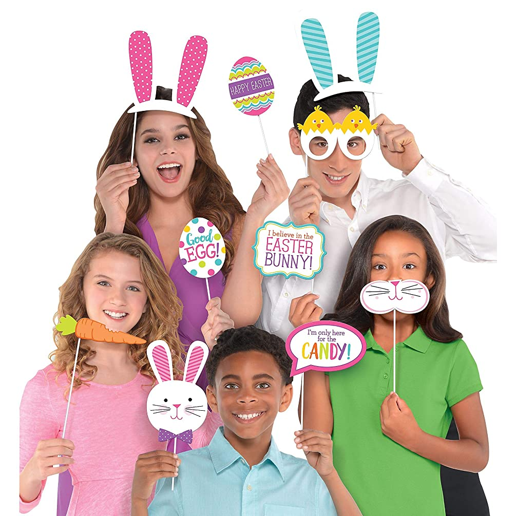 amscan Party Supplies, Easter Photo Props, Party Decors, Multicolor, 14