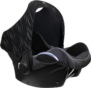Dooky Hoody protección solar para portabebés de bebe o cochecitos de niño (diseño: Matrix, incl. protección UV 40+, grupo de edad 0+, universal adecuado para la mayoría de las marcas), Negro