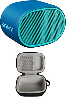 Sony XB01 Extra Bass Portable Bluetooth Speaker (Blue) with Hard Travel Case (Includes Zipper and Strap)