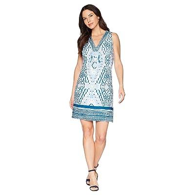 Hale Bob Feel The Heat Matte Microfiber Dress (Blue 2) Women