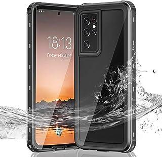 Janazan Samsung Galaxy S21 Ultra Waterproof Case, Full Sealed Underwater Clear Protective Cover, Heavy Duty Shockproof San...