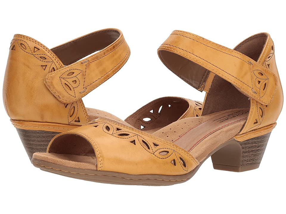 Rockport Cobb Hill Collection Cobb Hill Abbott Two-Piece Ankle Strap (Yellow Leather) Women