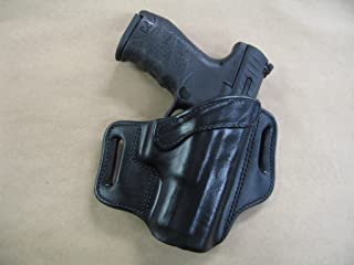 Azula OWB Leather 2 Slot Molded Pancake Belt Holster for Walther PPQ M1, M2 9mm / .40 Black RH