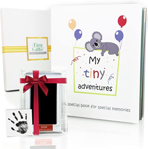 First 5 Years Baby Memory Book + Clean-Touch Ink Pad + Gift Box. Record Your Girl or Boy Photos & Milestones. Keepsak...
