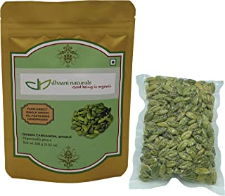 dhaani naturals Green Cardamom Whole 100 gm Pesticide Free Farm Direct Premium Quality