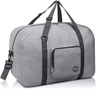 """WANDF 16"""" ~ 22"""" Foldable Duffle Bag 20L ~ 50L for Travel Gym Sports Lightweight Luggage Duffel 10 Color Choices"""