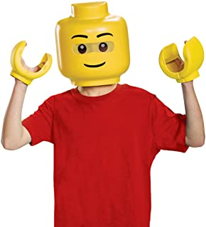 Disguise Lego Iconic & Hands Child Costume Kit, One Size Child , Yellow