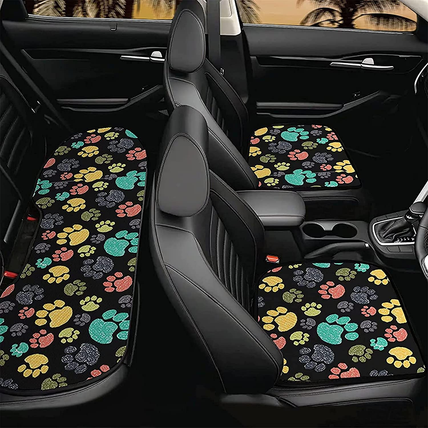 Poceacles Pet Paws Print Rare Car Front 2 Fro Auto Cushion Save money Seat Back