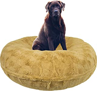 product image for BESSIE AND BARNIE Signature Honeymoon Luxury Shag Extra Plush Faux Fur Bagel Pet/Dog Bed (Multiple Sizes)