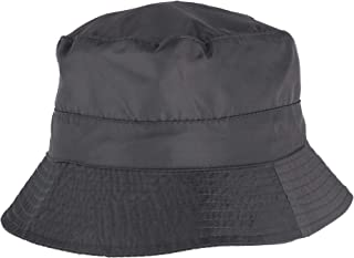 Angela & William Women's Waterproof Packable Rain Hat with Zippered Closure