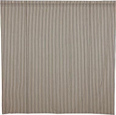 VHC Brands Ashmont Fabric Shower Curtain, 100% Cotton Farmhouse Bath Accent, Ticking Stripe Pattern