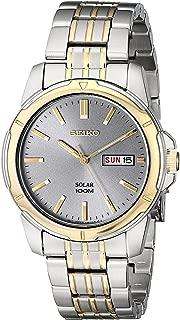 Seiko Men SNE098P-9 Year-Round Analog Solar Powered Multicolour Watch