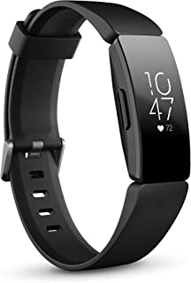Fitbit Inspire HR Health & Fitness Tracker with Auto-Exercise Recognition, 5 Day Battery, Sleep & Swim Tracking, Black/Black