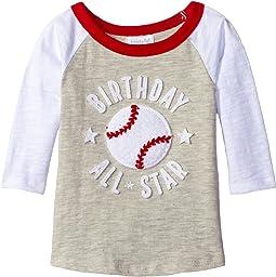 Mud Pie - 1st Birthday All-Star Raglan T-Shirt (Infant)