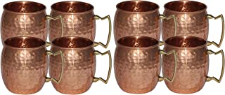 Handmade Pure Copper Hammered Moscow Mule Mug set of 8