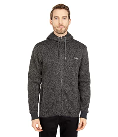 Quiksilver Keller Zip Fleece (Dark Grey Heather) Men